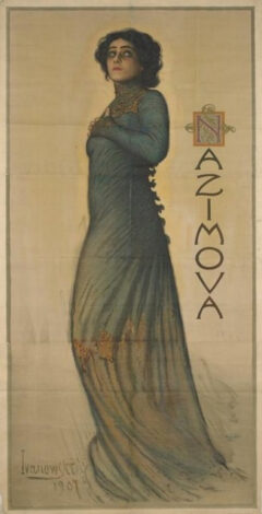 "Poster for Nazimova in ""Hedda Gabler"" on Broadway, 1907"