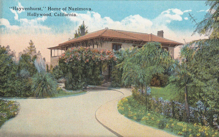 Another postcard photo of Nazimova's estate for movie fans, circa 1919