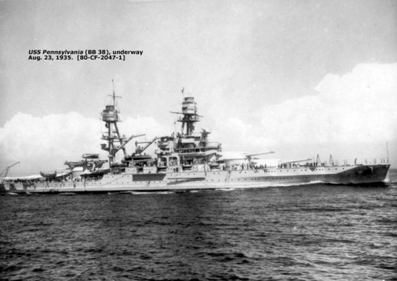 USS Pennsylvania in 1935
