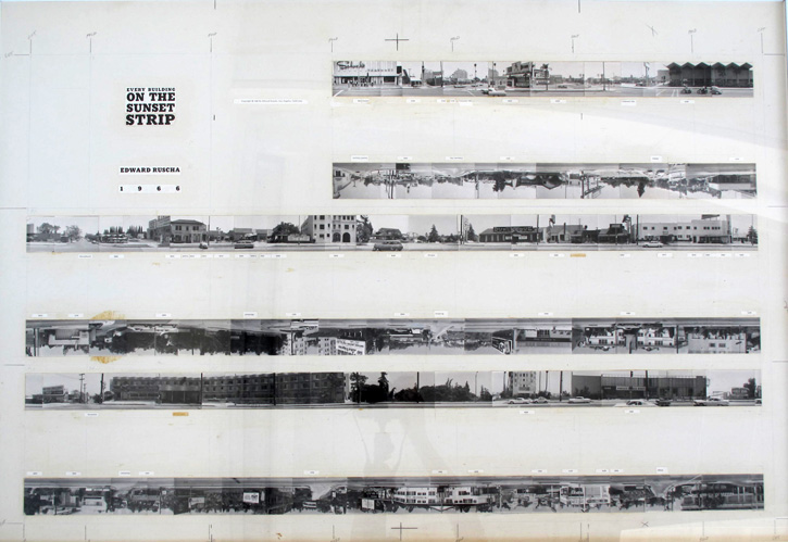 Mock-up for Every Building on the Sunset Strip, 1966 © Ed Ruscha