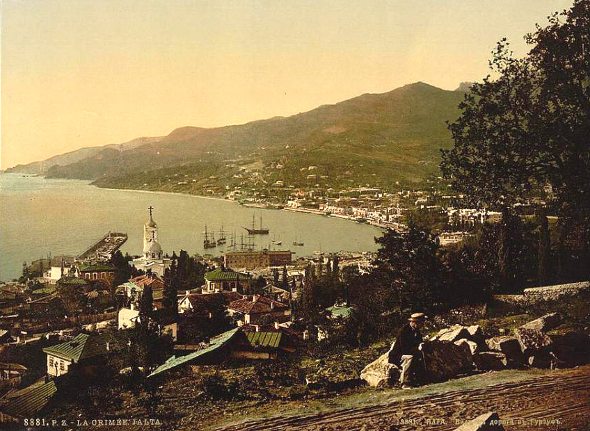 Yalta on Crimean coast of the Black Sea, circa 1900