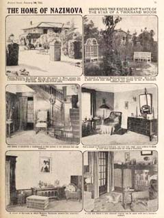Photographs of the interior of Alla Nazimova's home published in Picture Show magazine, January 1921