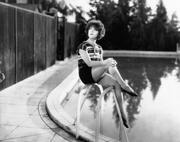 Alla Nazimova by her famous pool, 1925