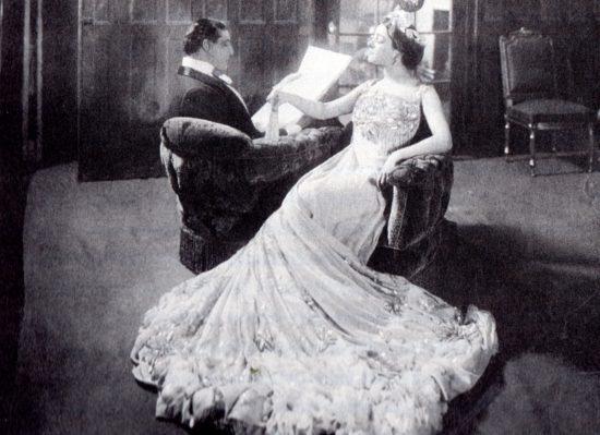 Alla Nazimova in 'Bella Donna' wearing a dress she designed