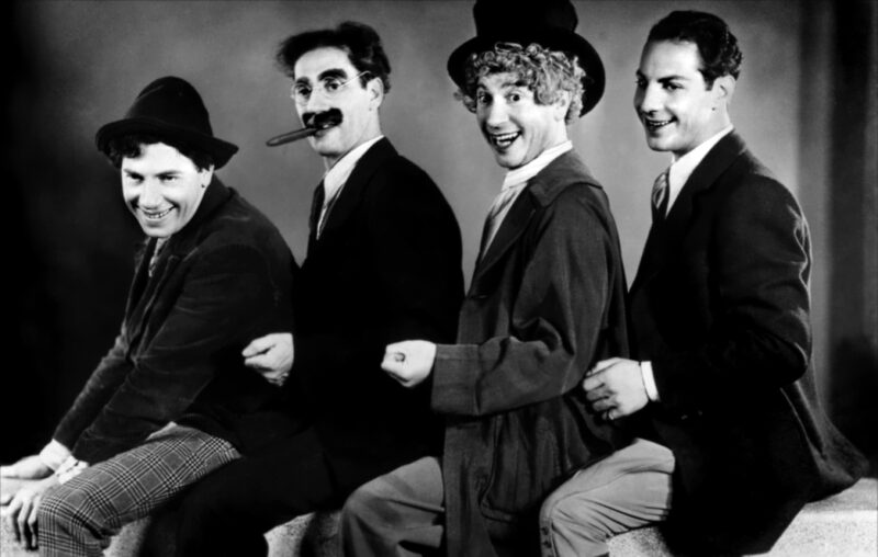 The Marx Brothers: from left, Chico, Groucho, Harpo and Zeppo