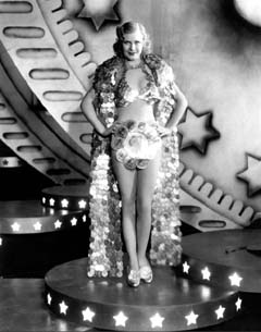 Ginger Rogers in costume for Were in the Money costume