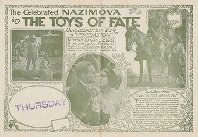 """Poster for """"Toys of Fate,"""" 1918"""