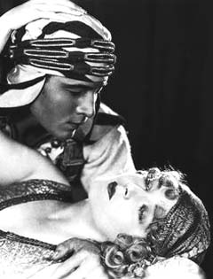 Valentino and Vilma Banky in 'The Sheik'