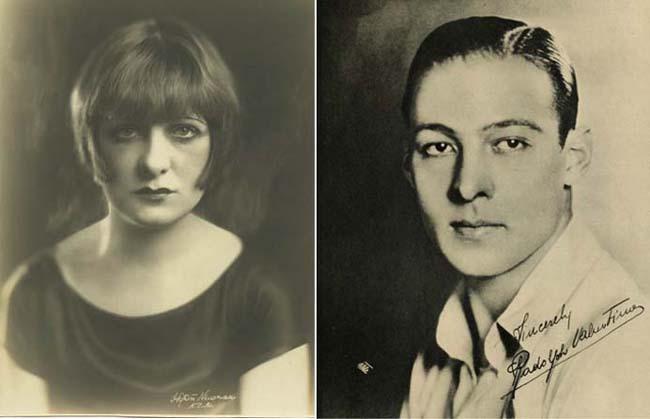 Left: Jean Acker; right: Valentino