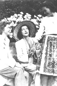 From left: Glesca Marshal, Alla Nazimoval and Nancy Davis (The last known photograph of Nazimova)