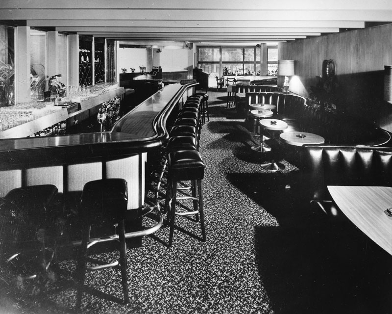 The hotel's tiny, dark bar was replaced with a larger, noisier and more modern room