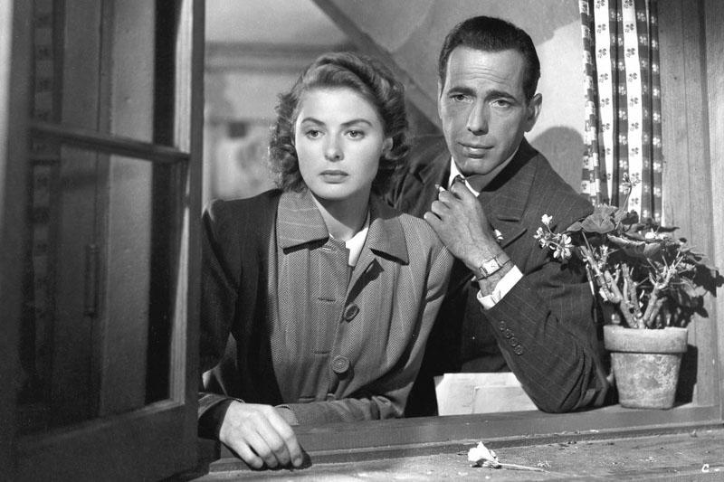 Ingrid Bergman and Humphrey Bogart in 'Casablanca,' 1943