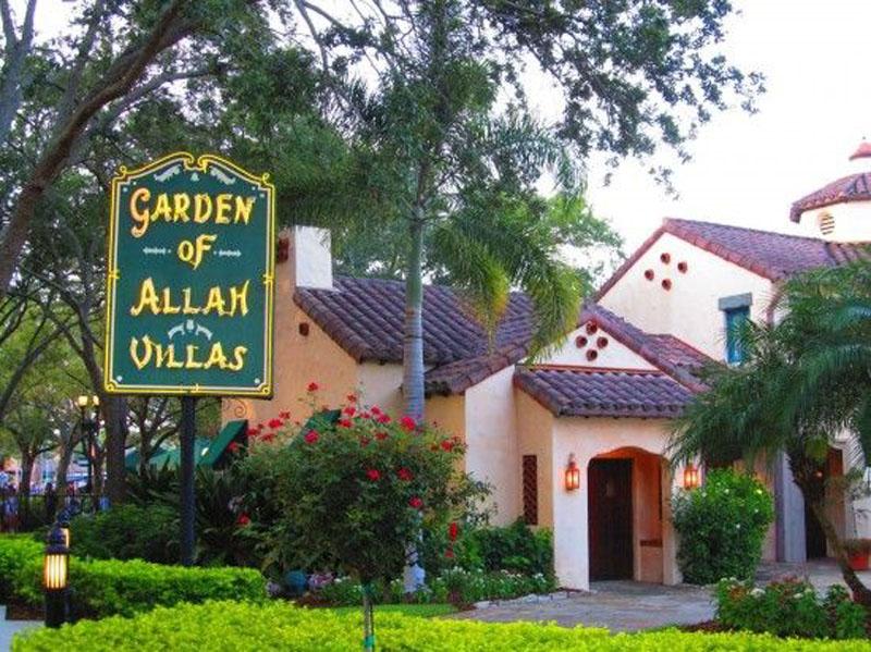Replicas of Garden of Allah villas at Universal Florida