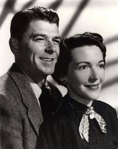 Ronald Reagan and Nancy Davis, goddaughter of Alla Nazimova, 1950s