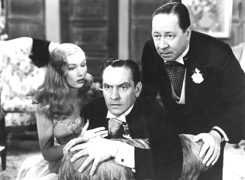 Veronica Lake, Fredric March and Robert Benchley in 'I Married a Witch,' 1942