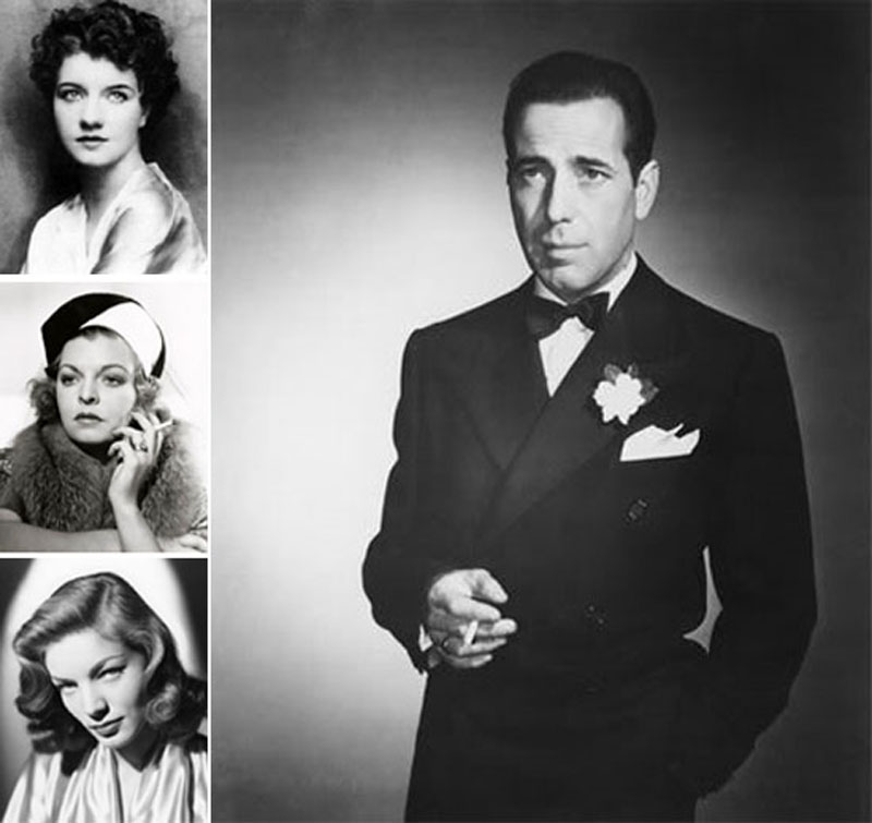 Humphrey Bogart with wives number two through four