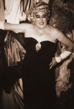 "GAY ON THE STRIP: Cross-dressing acts like Karyl Norman, ""the Creole Fashion Plate,"" and Rae Bourbon (above), performed on the Strip.  Café International and Jane Jones' Little Club catered to lesbians, while Café Gala and Club Bali were popular with gay men."