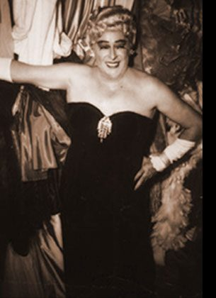 """GAY ON THE STRIP Cross-dressing acts like Karyl Norman, """"the Creole Fashion Plate,"""" and Rae Bourbon (above), performed on the Strip.  Café International and Jane Jones' Little Club catered to lesbians, while Café Gala and Club Bali were popular with gay men."""